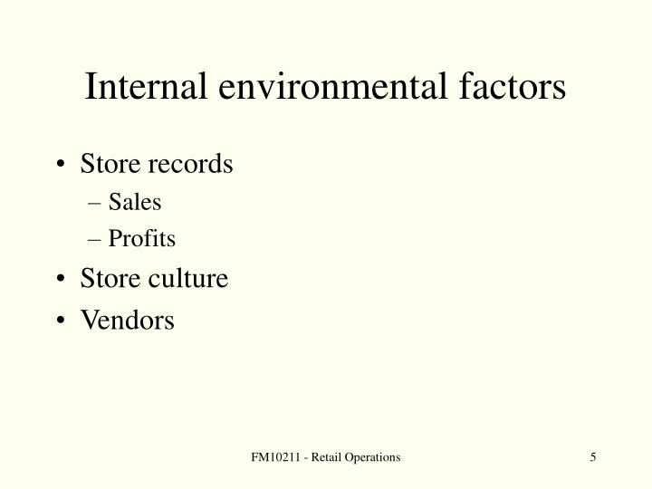 Internal environmental factors