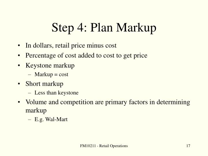 Step 4: Plan Markup