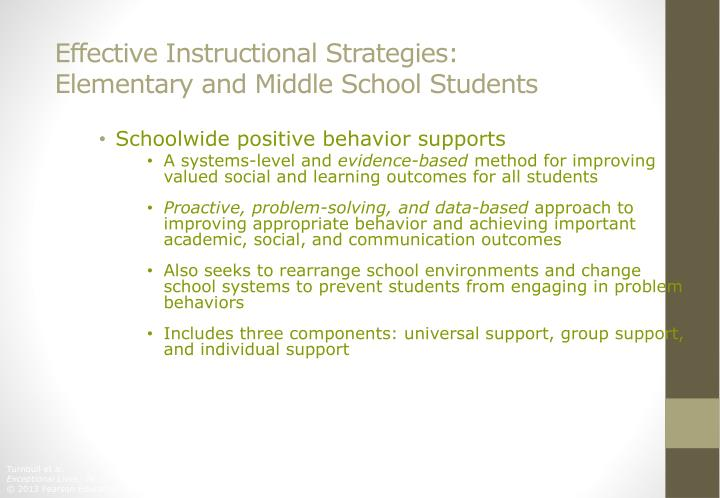 Effective Instructional Strategies: