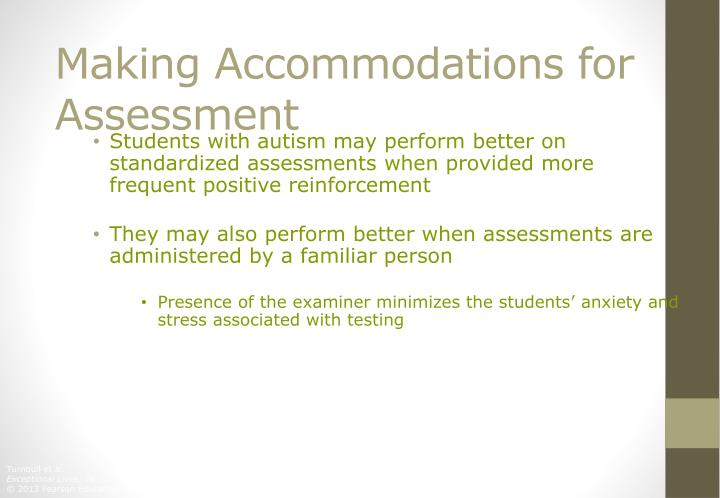 Making Accommodations for Assessment