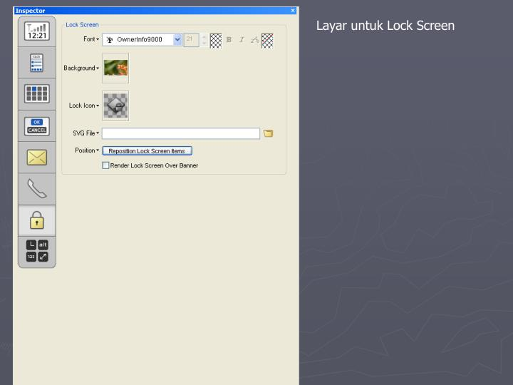 Layar untuk Lock Screen