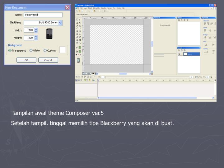 Tampilan awal theme Composer ver.5