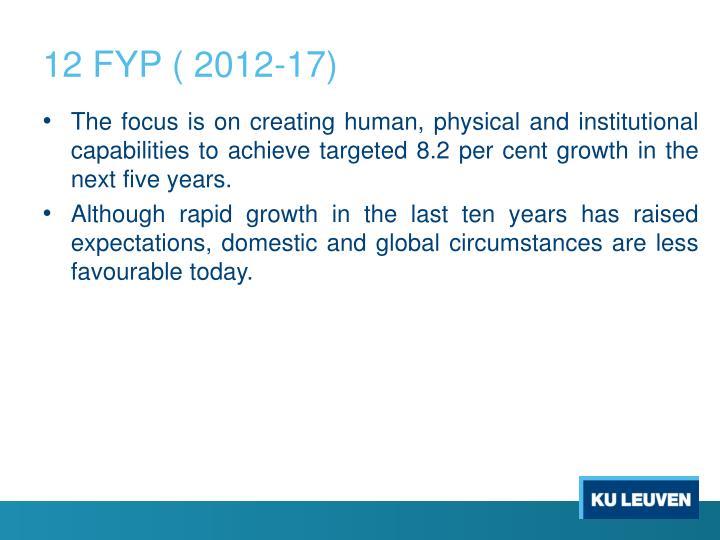 12 FYP ( 2012-17)