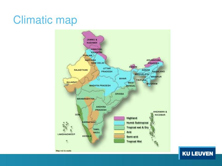 Climatic map