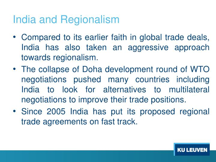 India and Regionalism