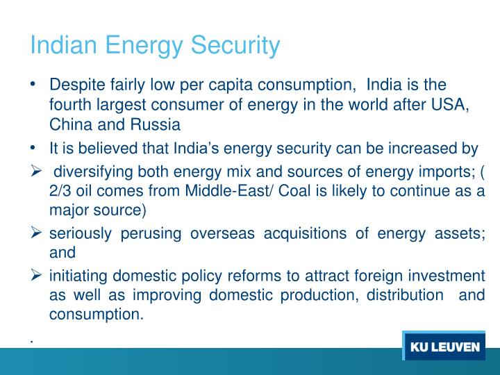 Indian Energy Security
