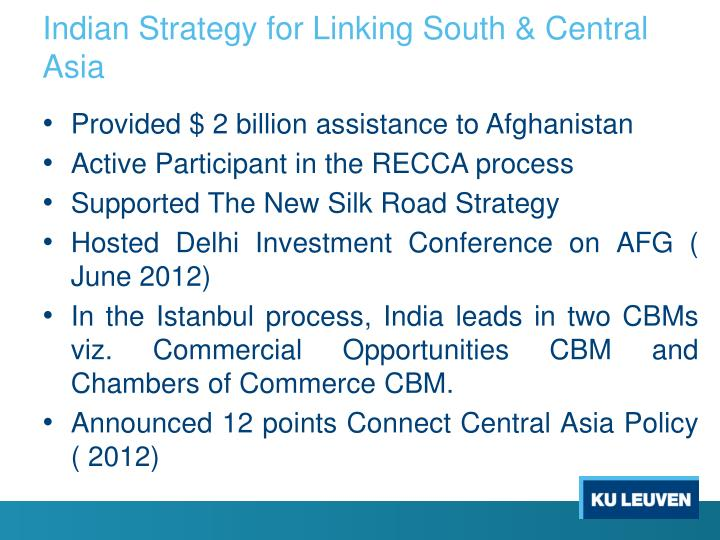 Indian Strategy for Linking South & Central Asia