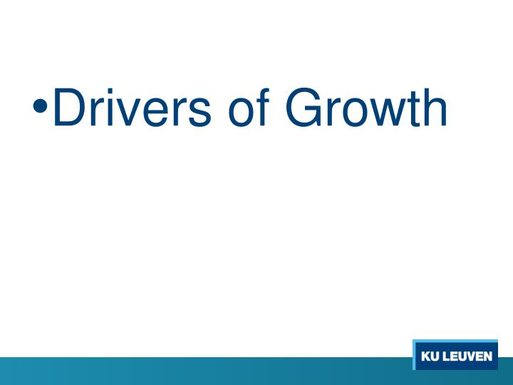 Drivers of Growth