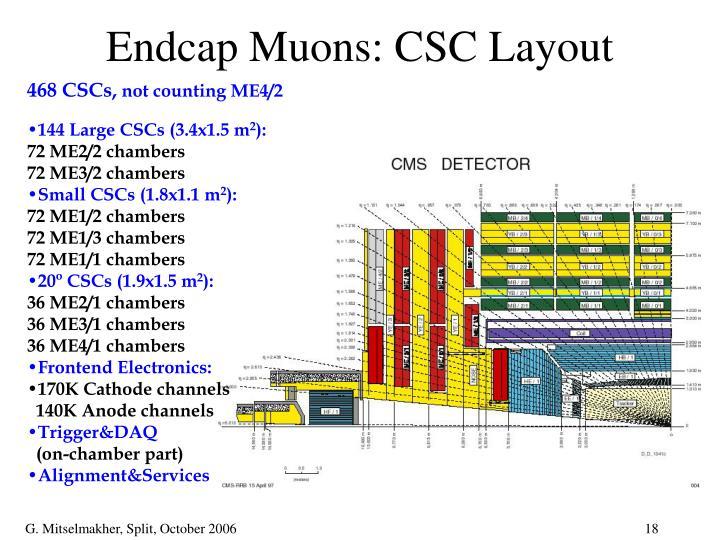Endcap Muons: CSC Layout