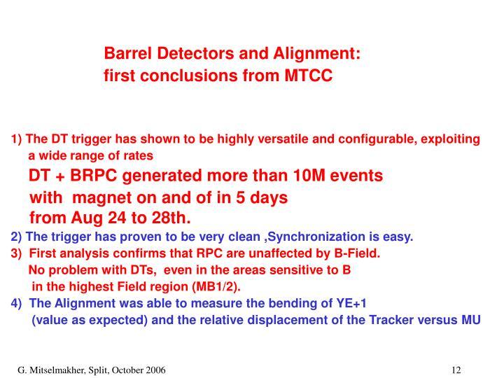 Barrel Detectors and Alignment: