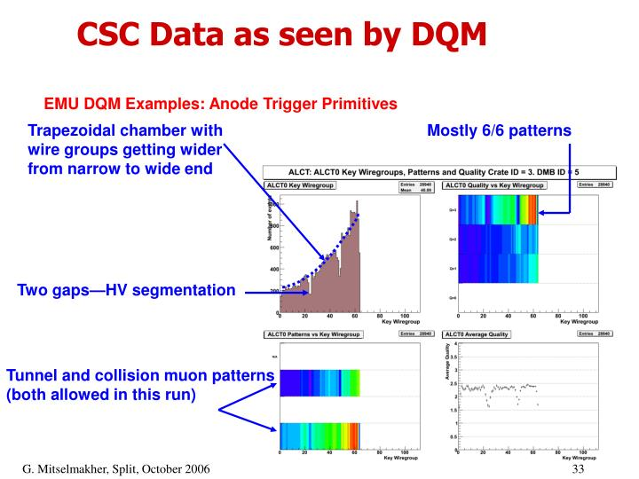 CSC Data as seen by DQM
