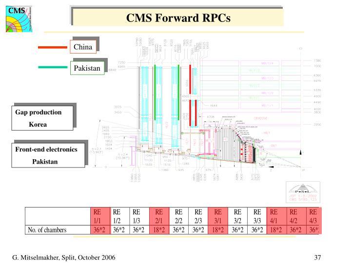 CMS Forward RPCs