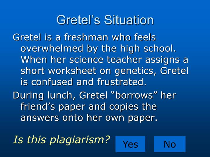 Gretel's Situation