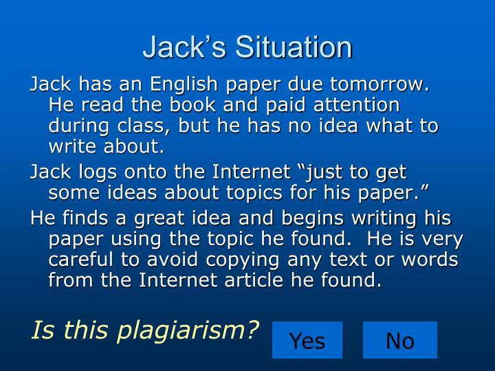 Jacks Situation