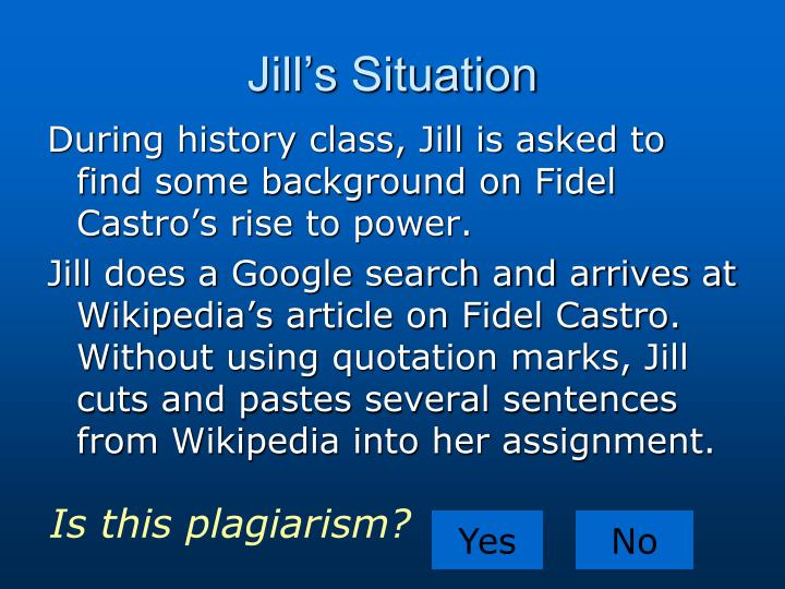 Jill's Situation