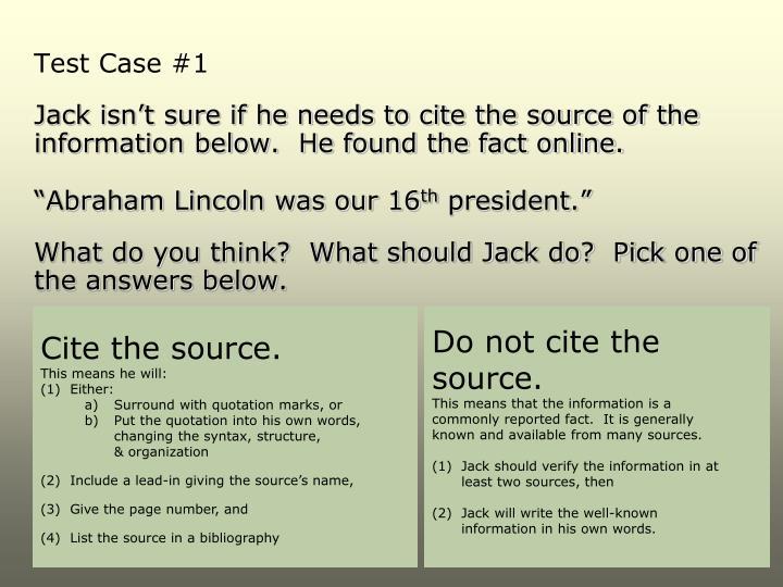 Test Case #1
