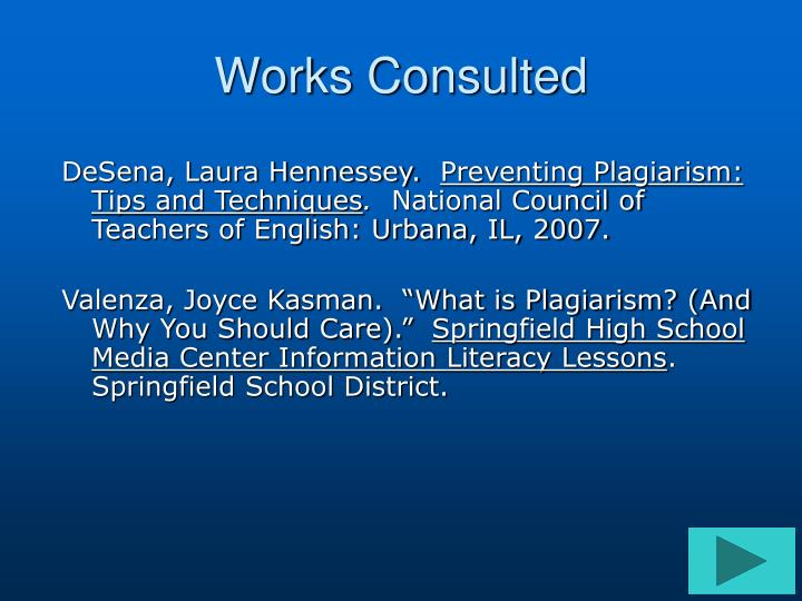 Works Consulted
