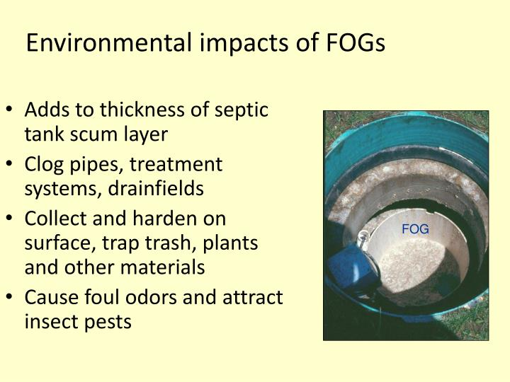 Environmental impacts of FOGs