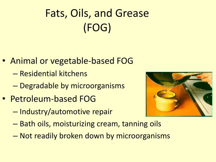Fats, Oils, and Grease