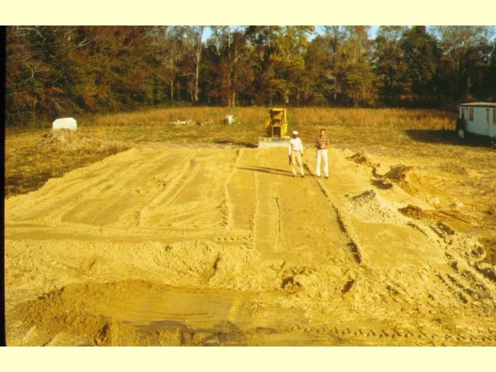 Installation of mound