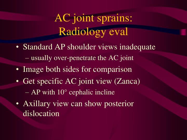 AC joint sprains: