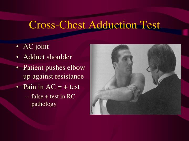 Cross-Chest Adduction Test