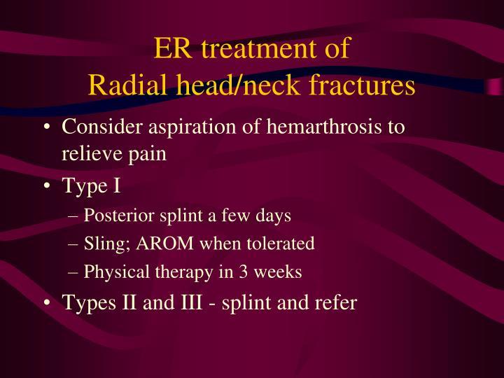 ER treatment of