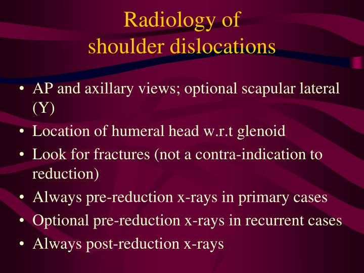 Radiology of