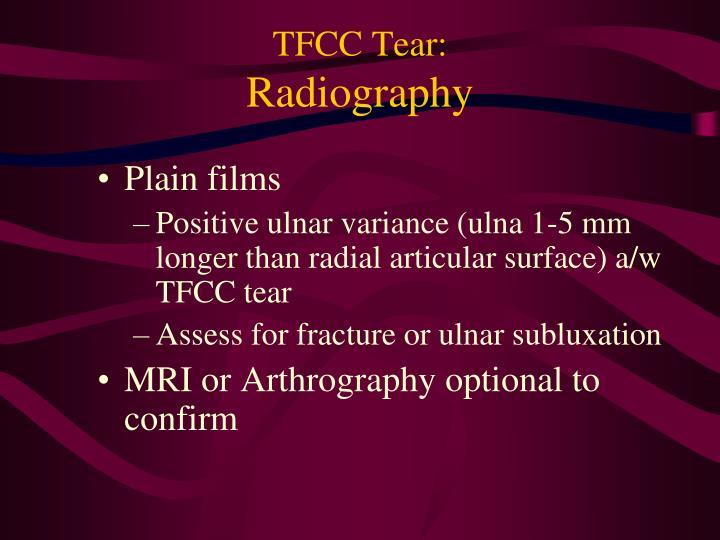 TFCC Tear: