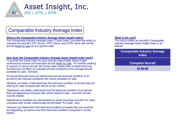 Comparable Industry Average Index