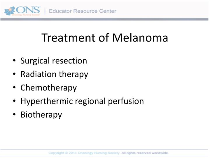 Treatment of Melanoma