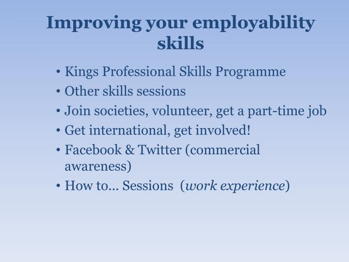 Improving your employability skills