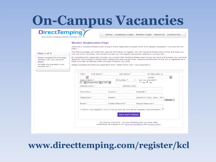 On-Campus Vacancies