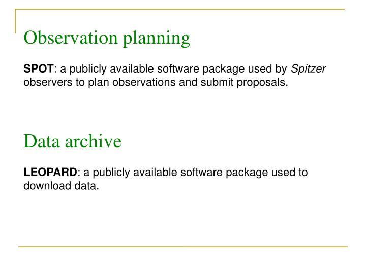 Observation planning