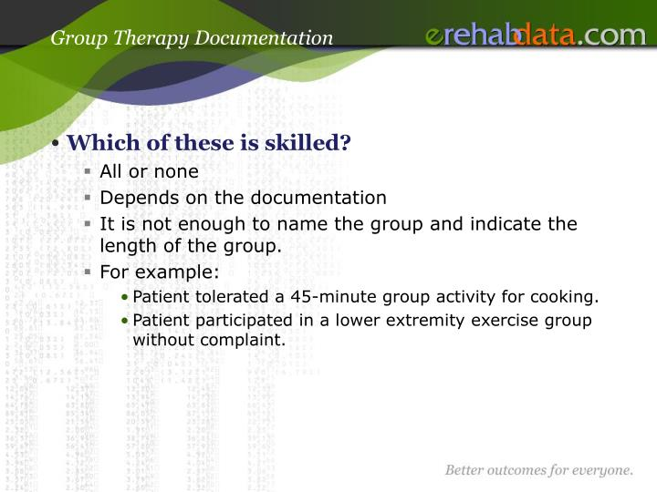 Group Therapy Documentation