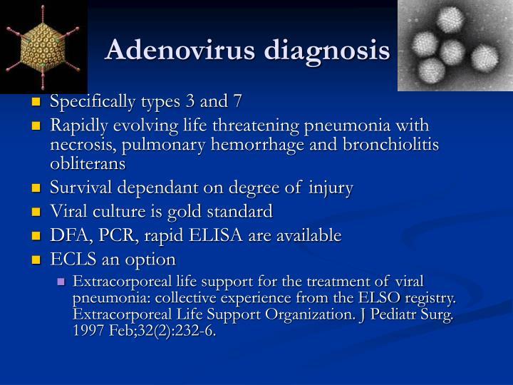 Adenovirus diagnosis