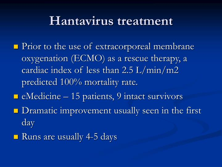 Hantavirus treatment