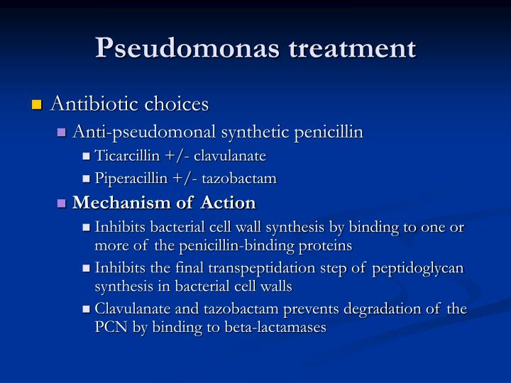 Pseudomonas treatment