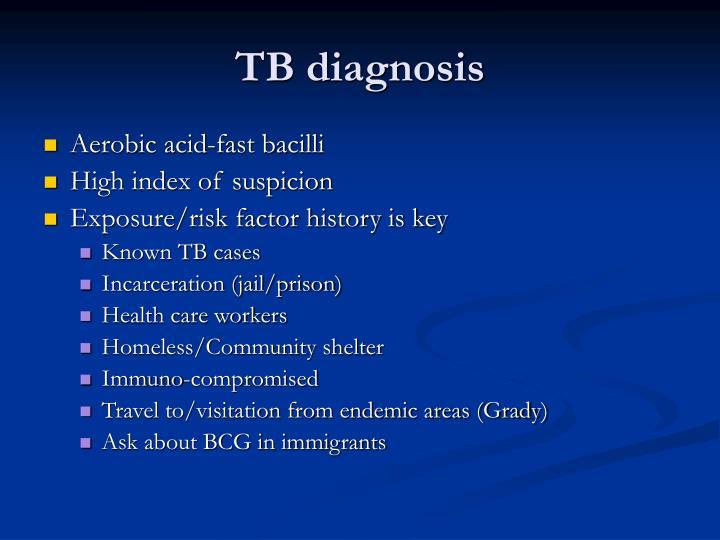 TB diagnosis