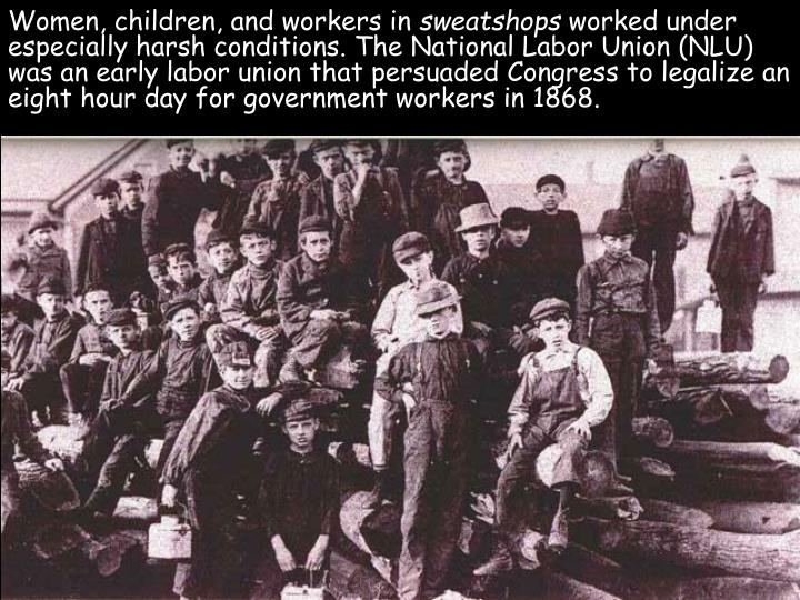 Women, children, and workers in