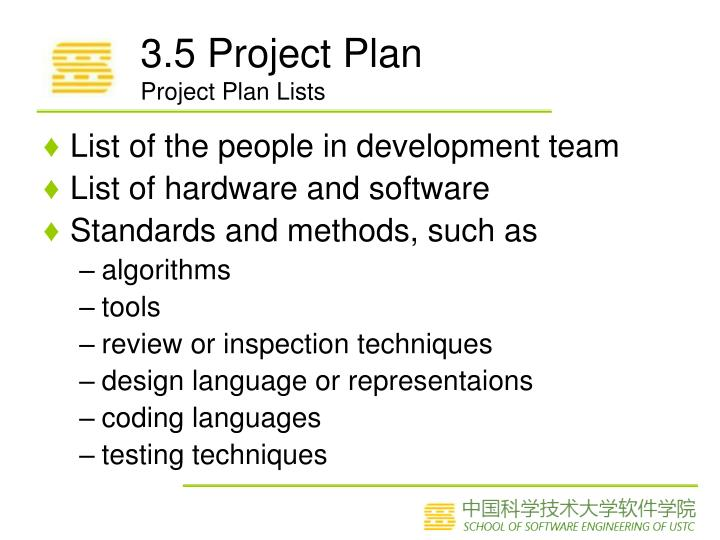 3.5 Project Plan