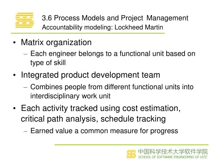 3.6 Process Models and Project