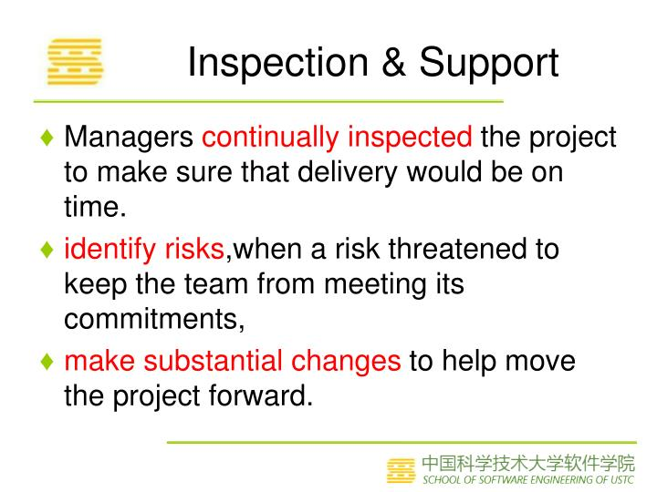 Inspection & Support