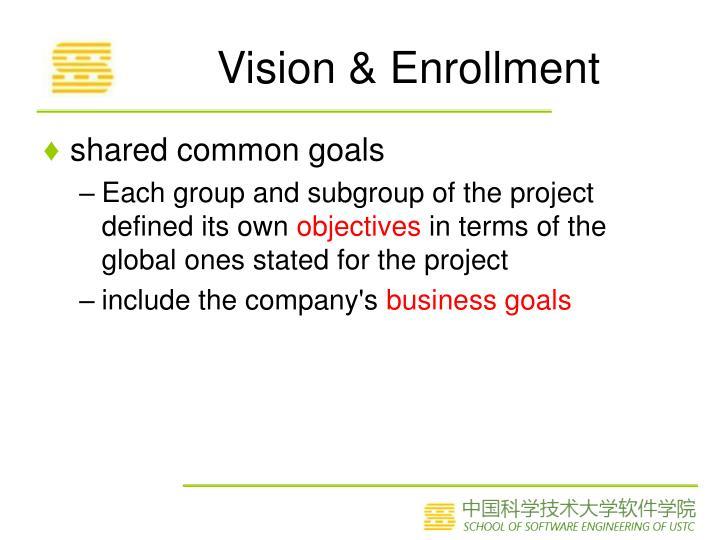 Vision & Enrollment