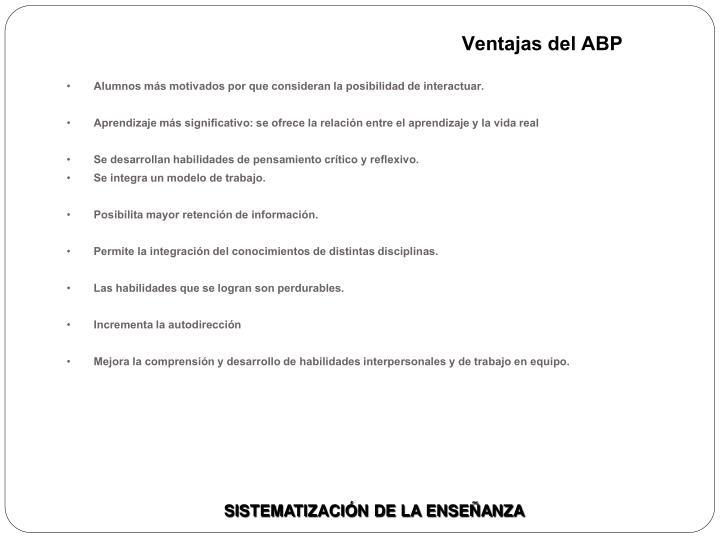 Ventajas del ABP