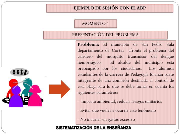 EJEMPLO DE SESIÓN CON EL ABP