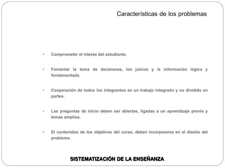 Características de los problemas