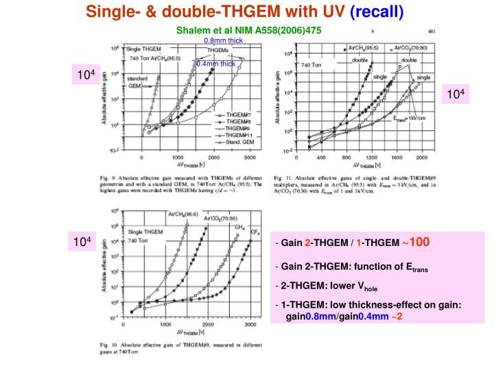 Single- & double-THGEM with UV