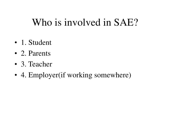 Who is involved in sae