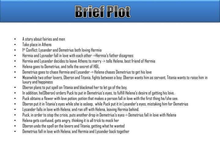 Brief Plot